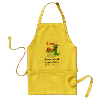 Jump in and enjoy a little Cajun F... Adult Apron