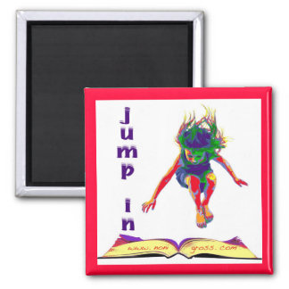 Jump In! 2 Inch Square Magnet