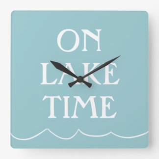 Jump in the Lake Square Wall Clock