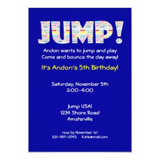 "Jump Invitation 5"" X 7"" Invitation Card"