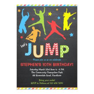 Jump Invitation / Trampoline Invitation 13 Cm X 18 Cm Invitation Card