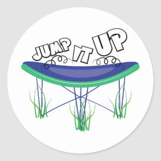 Jump It Up Classic Round Sticker