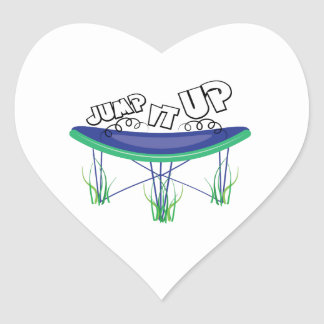 Jump It Up Heart Sticker