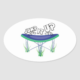Jump It Up Oval Sticker