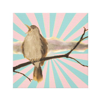 Jump - Nightingale by creative summerhouse Canvas Print