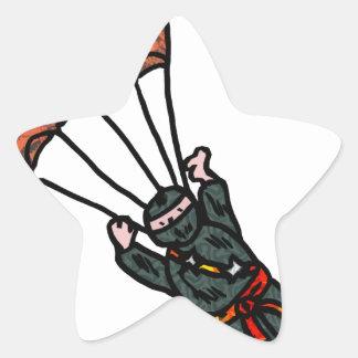 Jump Ninja Star Sticker