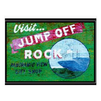 Jump Off Rock Wall Mural Postcard