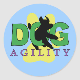 Jump Out Dog Agility Classic Round Sticker