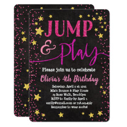 Jump Party Invitations Announcements Zazzle