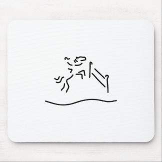 jump-ride horse military mouse pad