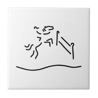 jump-ride horse military tile