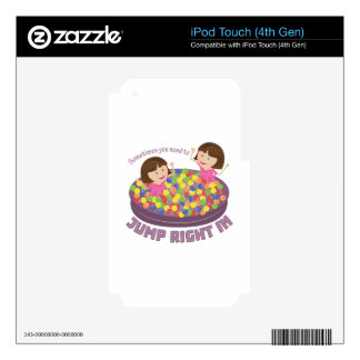 Jump Right In Decals For iPod Touch 4G