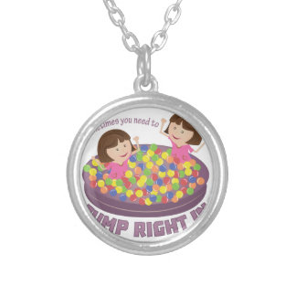 Jump Right In Round Pendant Necklace