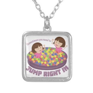 Jump Right In Square Pendant Necklace