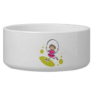 Jump Rope Dog Bowls