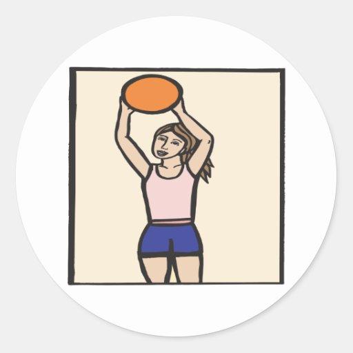 Jump Shot Classic Round Sticker