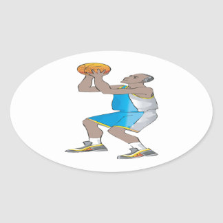 Jump Shot Oval Sticker