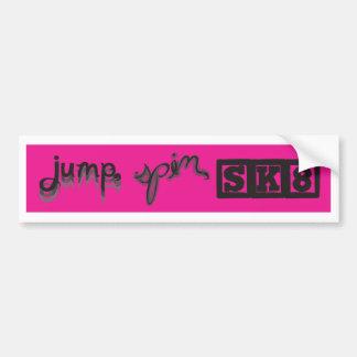 Jump, Spin, SK8 Bumper Sticker Car Bumper Sticker