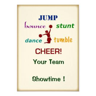 Jump Stunt Bounce Cheerleader Event Invitation
