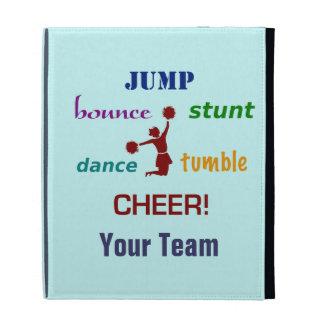 Jump Stunt Bounce Cheerleader iPad Case