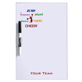 Jump Stunt Bounce Cheerleader Team Dry Erase Board