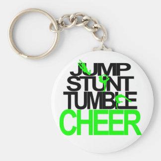 Jump, Stunt, Tumble, Cheer Custom Keychain