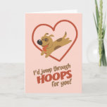 Jump Through Hoops Valentine's Day Holiday Card