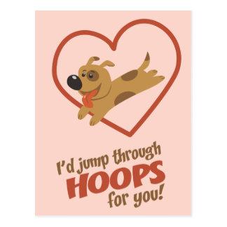 Jump Through Hoops Valentine's Day Postcard