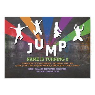 Jump party invitations announcements zazzle jump trampoline birthday party jumping invite stopboris Images