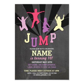 Jump Trampoline Birthday Party Pink Girls Invite
