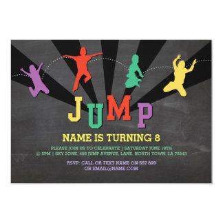 Jump Trampoline Birthday Party Red Boys Invite