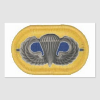 Jump Wings on 1st Bn 504th Infantry Oval Stickers