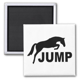 JUMP with Jumping Horse 2 Inch Square Magnet