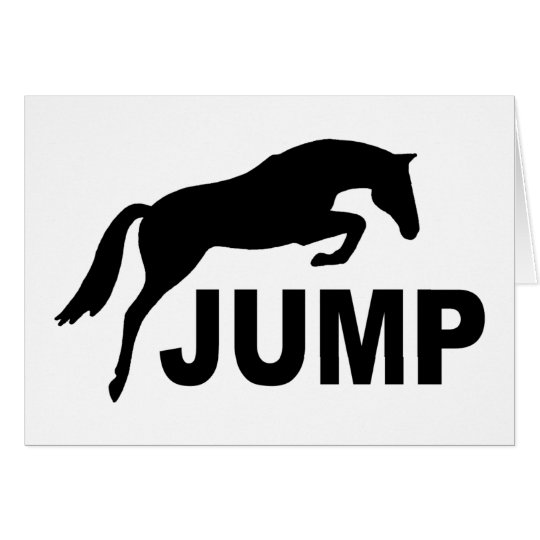 JUMP with Jumping Horse Card