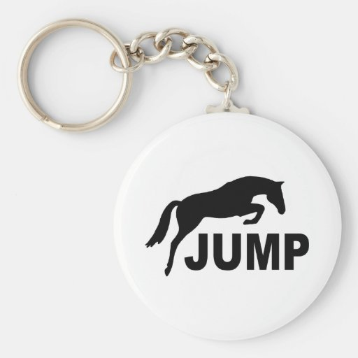 JUMP with Jumping Horse Keychains