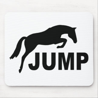 JUMP with Jumping Horse Mouse Pad
