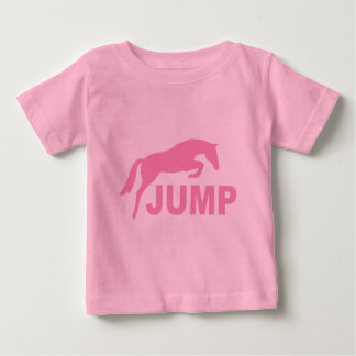 JUMP with Jumping Horse (pink) Baby T-Shirt