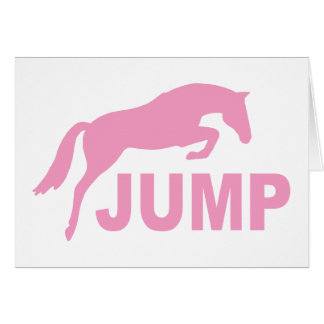 JUMP with Jumping Horse (pink) Card