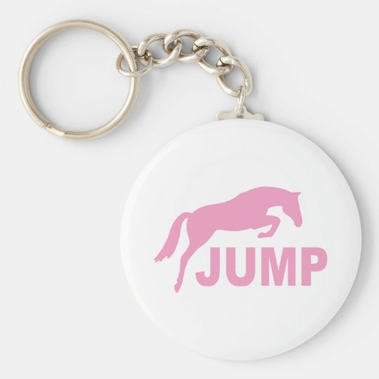 JUMP with Jumping Horse (pink) Keychain