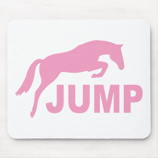 JUMP with Jumping Horse (pink) Mouse Pad