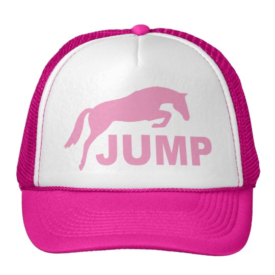 JUMP with Jumping Horse (pink) Trucker Hat
