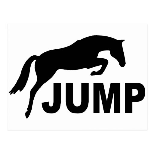 JUMP with Jumping Horse Postcard
