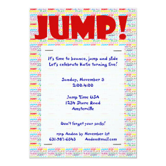 Jump Words Invitation
