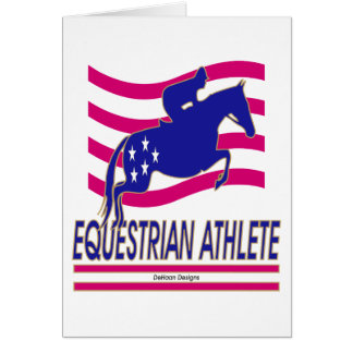 Jumper Equestrian Athlete Card