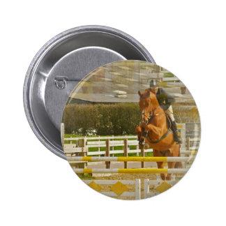 Jumper Horse Show Round Button