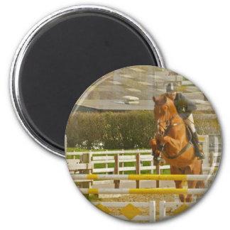 Jumper Horse Show Round Magnet