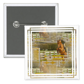 Jumper Horse Show Square Pin