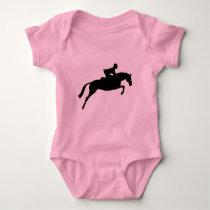 Jumper Horse Silhouette Baby Bodysuit