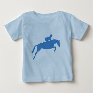 Jumper Horse Silhouette (blue) Baby T-Shirt