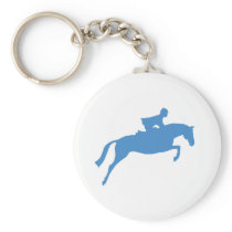 Jumper Horse Silhouette (blue) Keychain